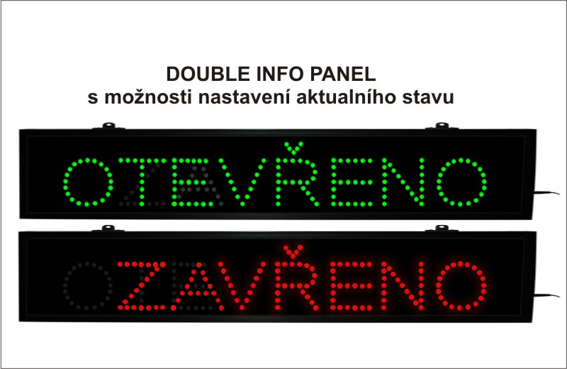 Info panel-DOUBLE-OTEV./ZAV. interiér